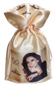 Saquinho de Cetim Personalizado para joias -  12 x 18 - Borda gola personalizada - Impressão colorida -  Linha Exclusive 2129