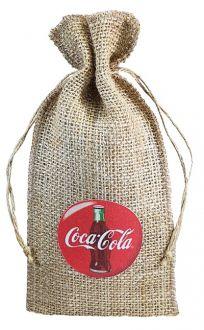 Saquinho de juta personalizada para garrafa 18x40  - Impressão Obm - Linha Orgânica  772