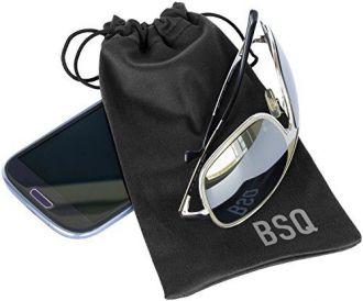 Saquinho de microfibra para óculos - impressão logomarca serigrafia 1 cor - Linha Cristal  1622