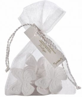 Saquinho de organza 10 x 15 com cordão de são francisco - Tag de papel impressa  - Linha Luxo 17042
