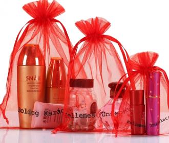 Saquinho de organza personalizada  para perfumes 25 x 35 - Para outros tamanhos consulte  - Linha Classic 7215
