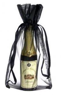 Saquinho de organza para garrafa - borda dupla sem impressão 18x40  - Linha Classic 1803