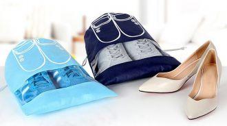Saquinho de tnt para sapato 25x35 - com visor plastico personalizado - Linha Classic  1428