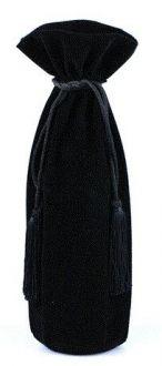 Saquinho de veludo para garrafa - fechamento com pingente de seda 18x40 - Linha Classic 1814