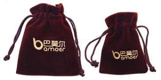 Saquinho de veludo para joias 08 x 12 - Impressão Hot-Stamping Italiano - Para outros tamanhos consulte - Linha Classic 7125