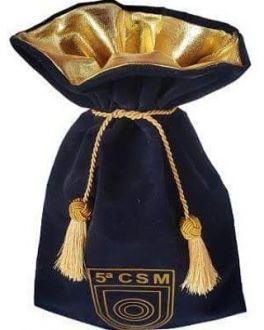Saquinho de veludo  personalizado 20 x 30 - Borda de Lamê - Impressão Hot-Stamping Italiano - cordão e pingente cúpula de seda -  Linha Premium 1152