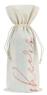 Saquinho para garrafa de algodão 18x40 - impressão em hotstamping - Linha Classic 706