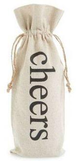 Saquinho para garrafa de algodão 18x40 - personalização em serigrafia - Linha Classic 1801