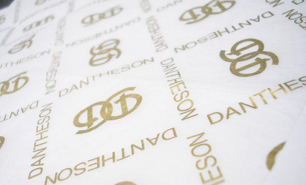 Papel de Seda Personalizado  20g/m - Tamanho 25x35 - impressão em 1 cor - Linha paper 7096  - Litex Embalagens
