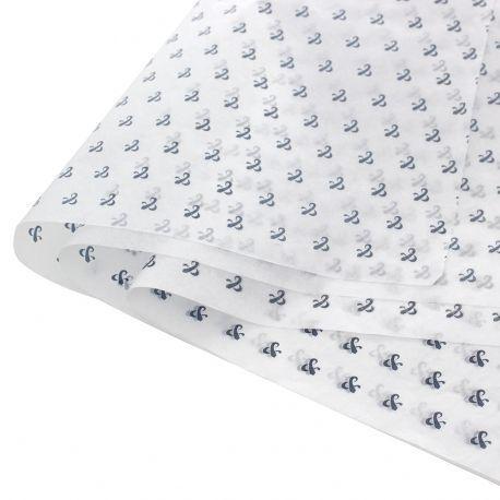 Papel de Seda Personalizado  20g/m - Tamanho 50x70 - impressão em 1 cor - Linha paper 1206  - Litex Embalagens