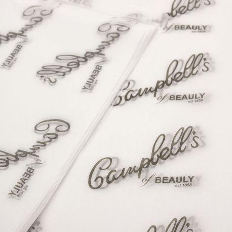 Papel de Seda Personalizado  20g/m - Tamanho 35x50 - impressão em 1 cor - Linha paper 1207  - Litex Embalagens