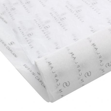 Kit com 5 folhas  de Papel de Seda Personalizado  20g/m - Tamanho 50x70 - impressão em 1 cor - Linha paper  1200  - Litex Embalagens