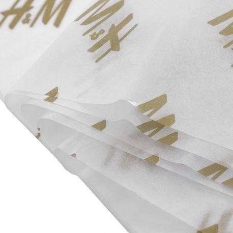 Papel de Seda Personalizado  20g/m - Tamanho 35x50 - impressão em 1 cor - Linha paper 1203  - Litex Embalagens