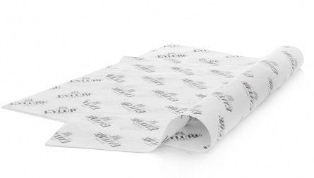 Papel de Seda Personalizado  20g/m - Tamanho 35x50 - impressão em 1 cor - Linha paper 1133  - Litex Embalagens