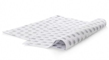 Papel de Seda Personalizado  20g/m - Tamanho 25x35 - impressão em 1 cor - Linha paper 1134  - Litex Embalagens