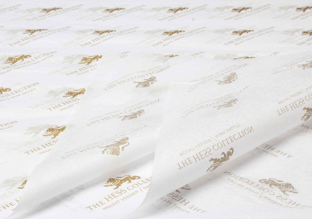 Kit com 18 folhas  de Papel de Seda Personalizado  20g/m - Tamanho 25x35 - impressão em 1 cor - Linha paper 1131  - Litex Embalagens