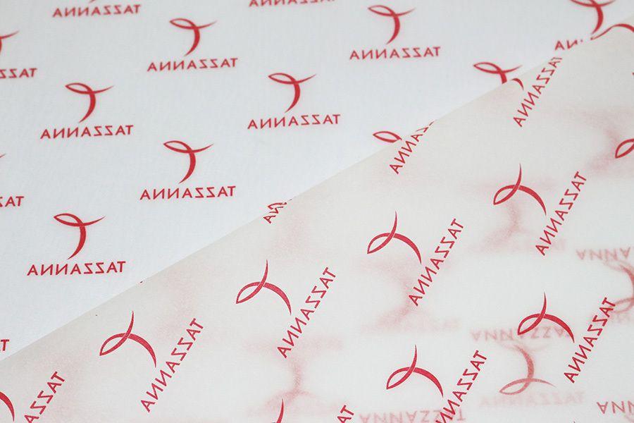 Kit com 18 folhas  de Papel de Seda Personalizado  20g/m - Tamanho 25 x 35 - impressão em 1 cor - Linha paper  1208  - Litex Embalagens