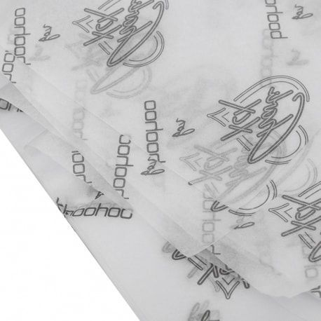 Papel de Seda Personalizado 20g/m - Tamanho 50 x 70 - Impressão em 1 cor - Linha paper 7131  - Litex Embalagens
