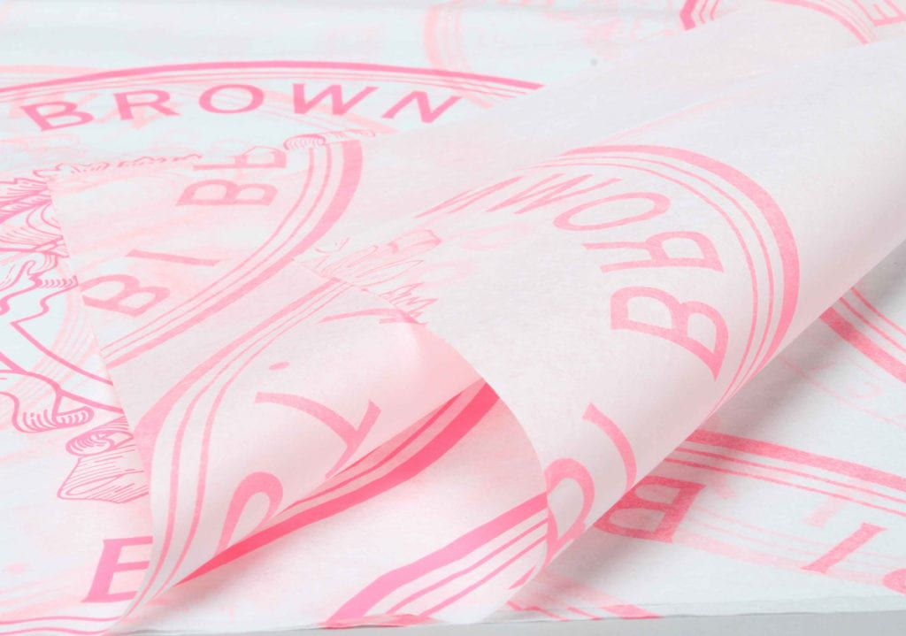 Papel de Seda Personalizado 20g/m - Tamanho 50 x 70 - Impressão em 1 cor - Linha paper 7095  - Litex Embalagens
