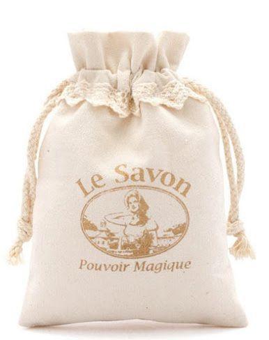 Saquinho de algodão com renda de algodão na borda 15x20 -  impressão da logomarca em serigrafia  - Linha Classic 7147  - Litex Embalagens