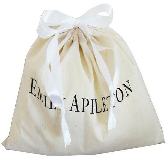 Saquinho de algodão  personalizado para bolsa - 40x60 -  impressão da logomarca em serigrafia - Linha Classic  7180  - Litex Embalagens