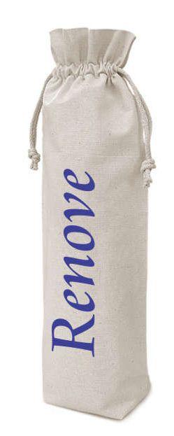 Saquinho de algodão para garrafa personalizado 18x35 - impressão em serigrafia - Linha Classic 7232  - Litex Embalagens