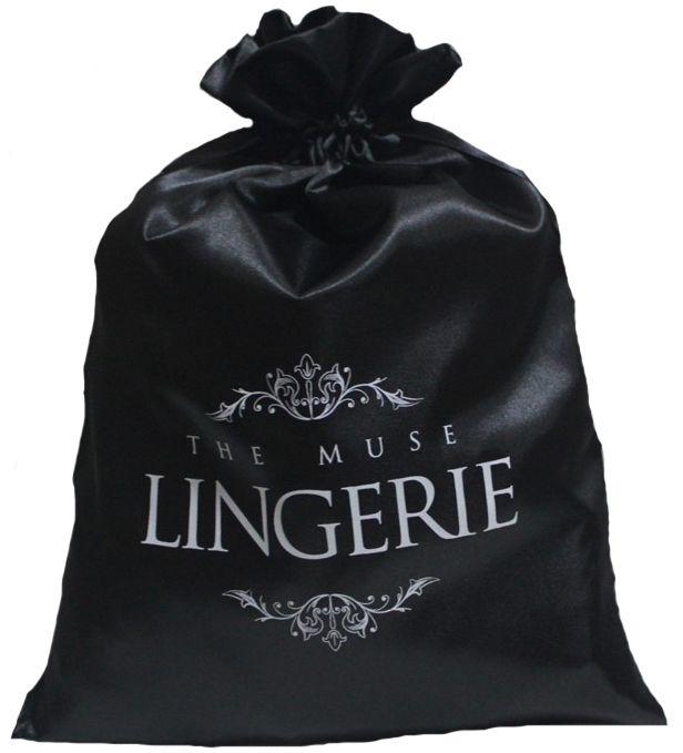 Embalagem de cetim para lingerie - 25x35 - impressão em serigrafia -  Linha Classic 7289  - Litex Embalagens