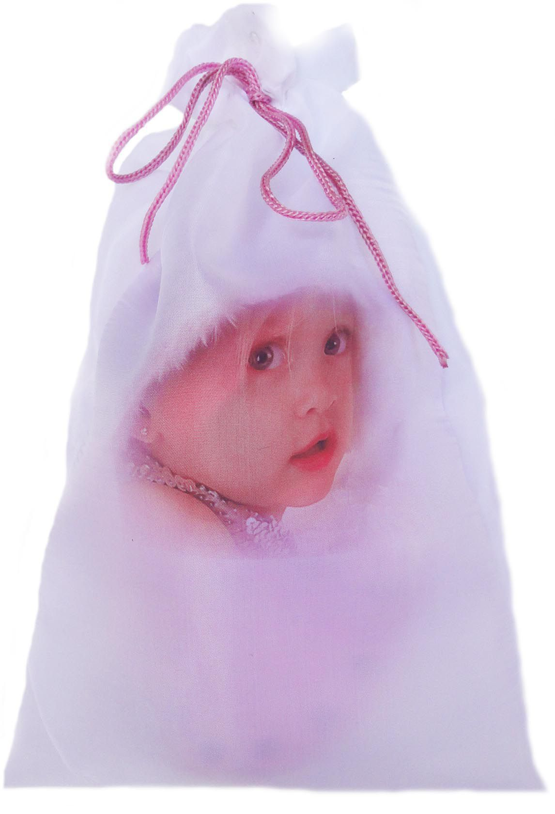 Saquinho de cetim personalizado para chinelo infantil - 20x30 - impressão digital Colorida -  Linha Classic 7291  - Litex Embalagens