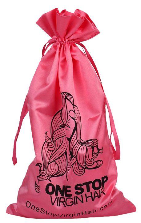 Saquinho de cetim personalizado para cabelo - 20x40 - impressão em serigrafia -  Linha Classic  7333  - Litex Embalagens