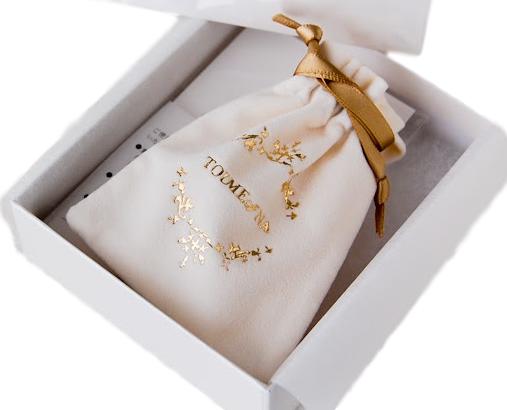 Embalagem de veludo personalizado para joias - 10x15 - Impressão Hot-Stamping Italiano -  Linha Luxo 7340  - Litex Embalagens