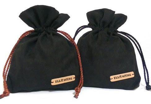 Saquinho de Veludo 15x20 - etiqueta de couro personalizada  -  Linha Luxo 7382  - Litex Embalagens