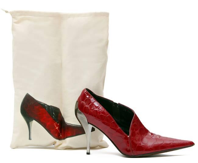 Saquinho de oxford para sapato 25x35 - impressão digital -  Linha Exclusive  7431  - Litex Embalagens