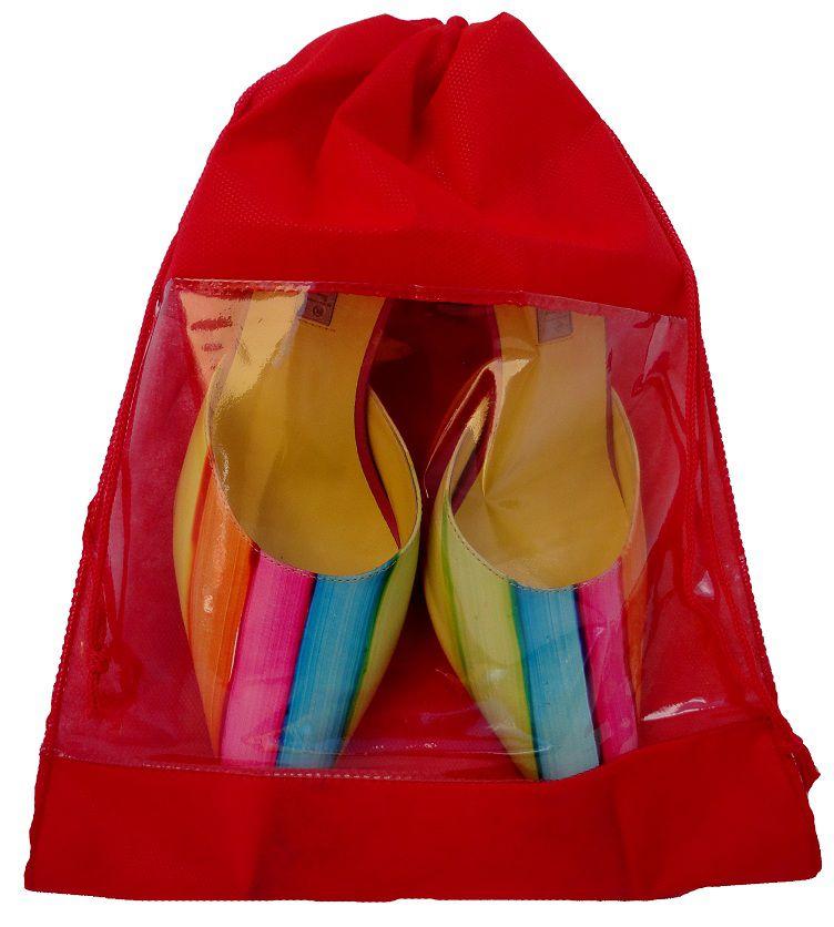 Saquinho de tnt com visor de pvc para sapato - tamanho 30x40 - sem impressão -  Linha Classic  7435  - Litex Embalagens