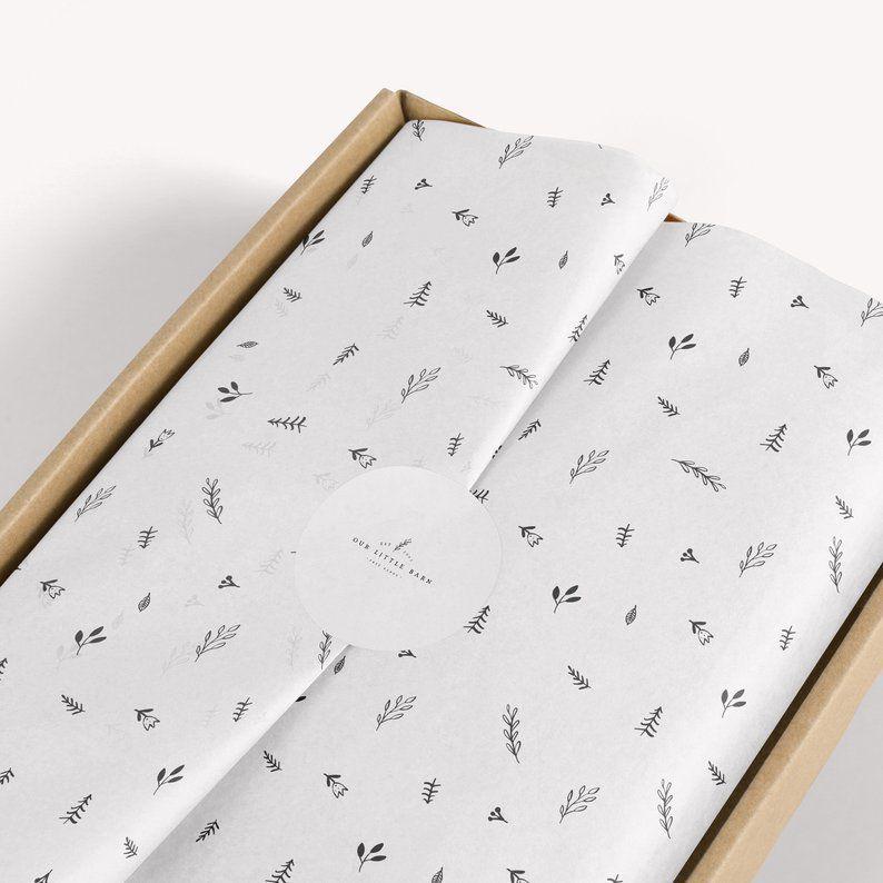 Papel de Seda Personalizado  20g/m - Tamanho 35x50 - impressão em 1 cor - Linha paper 7701  - Litex Embalagens