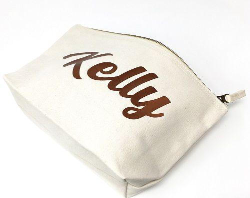 Necessaire  Lonita  - Impressão Hot-Stamping Italiano - forro personalizado - ziper de metal - Tamanho 18 x 28  -  Linha Gift  7503  - Litex Embalagens