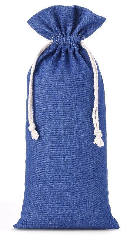 Saquinho Jeans sem impressão  para garrafa - 18 x 40 -  Linha Exclusive 2167  - Litex Embalagens