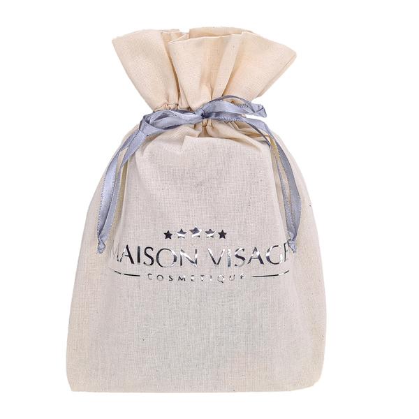 Embalagem de Algodão Cru Borda Dupla 15x20 Personalização em Hot Stamping Italiano Fechamento com Cordão de Seda Trançado  - Litex Embalagens