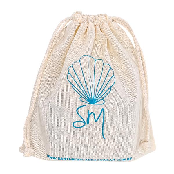 Embalagem de algodão personalizada - tamanho 15 x 20  - impressão em serigrafia 1 cor - Linha Classic 4357  - Litex Embalagens