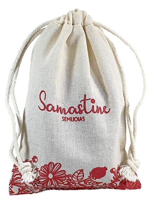 Embalagem de algodão personalizado  10 x 15 - impressão em serigrafia - Linha Classic 4152  - Litex Embalagens