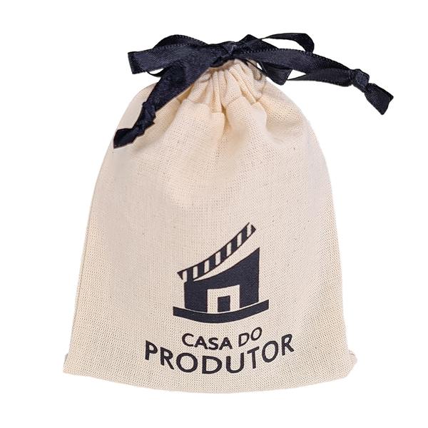 Embalagem de algodão personalizado 15 x 20 -  impressão da logomarca em serigrafia  - Linha Classic 7197  - Litex Embalagens