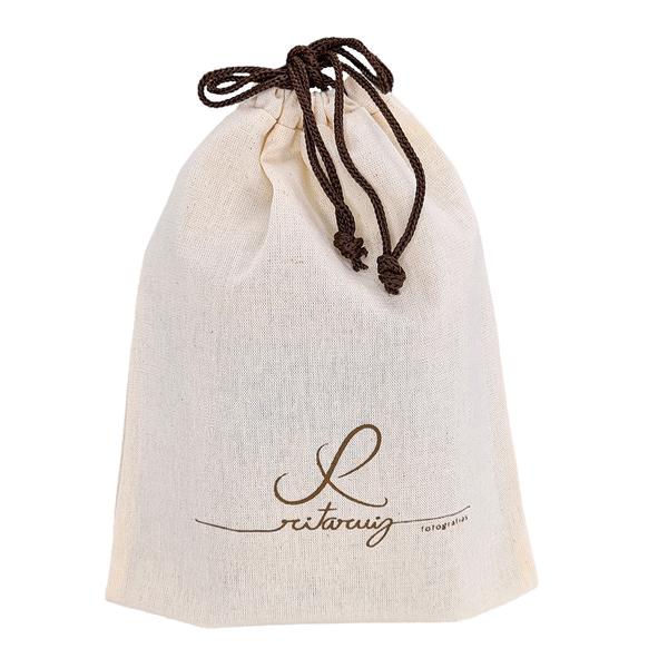 Embalagem de algodão  personalizado 15 x 30 -  impressão em serigrafia  -  Linha Classic 4358  - Litex Embalagens