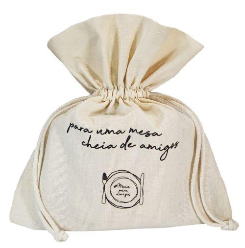 Embalagem de algodão personalizado  - 25x25 - impressão Serigrafia - Linha Classic  7418  - Litex Embalagens