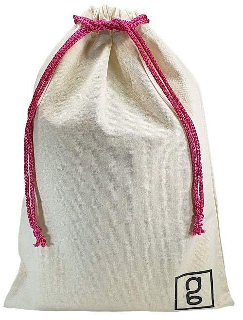 Embalagem de algodão Personalizado 60 x 90 -  impressão da logomarca em serigrafia  - Linha Classic 41312  - Litex Embalagens