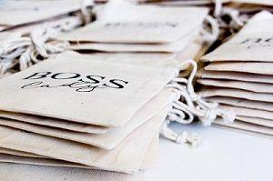 Embalagem de algodão personalizado para brindes - Tamanho 10x15 - Impressão serigrafia - Linha Classic 712  - Litex Embalagens