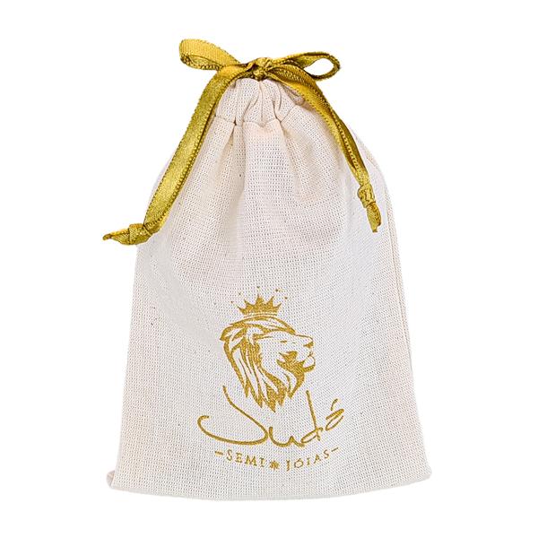 Embalagem de algodão  personalizado para joias 12 x 18 -  impressão em serigrafia   -  Linha Classic 4061  - Litex Embalagens