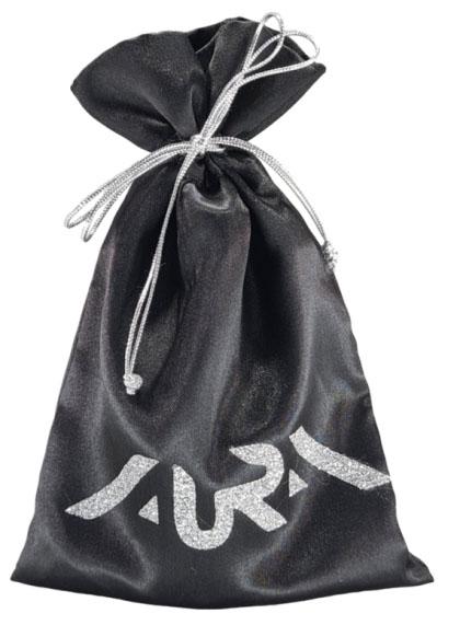 Embalagem de Cetim Charmouse Borda Dupla 08x12 Personalização em PS Gliter Fechamento com Cordão Metalizado  - Litex Embalagens