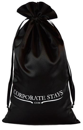 Embalagem de cetim personalizado para chinelos -  20 x 35 - impressão em serigrafia -  Linha Classic 7019  - Litex Embalagens