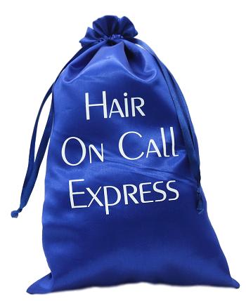 Embalagem de cetim personalizado para cabelos - 30 x 40 - impressão em serigrafia -  Linha Classic 7419  - Litex Embalagens