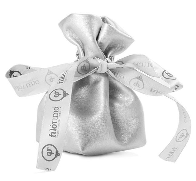 Embalagem de couríssimo - fita de cetim personalizada  12 x 18  -  Linha Premium 7254  - Litex Embalagens