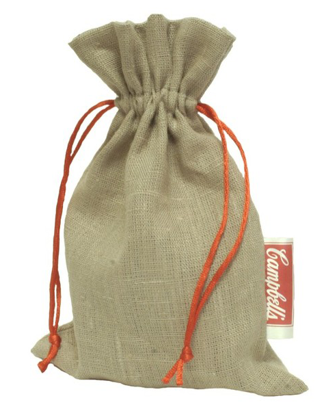 Embalagem de juta mista 20 x 30 - tag personalizada - Linha Orgânica 7312  - Litex Embalagens